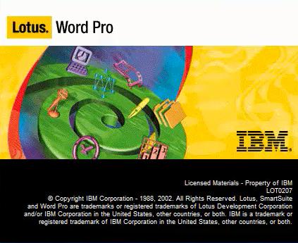 Opening Lotus Word Pro