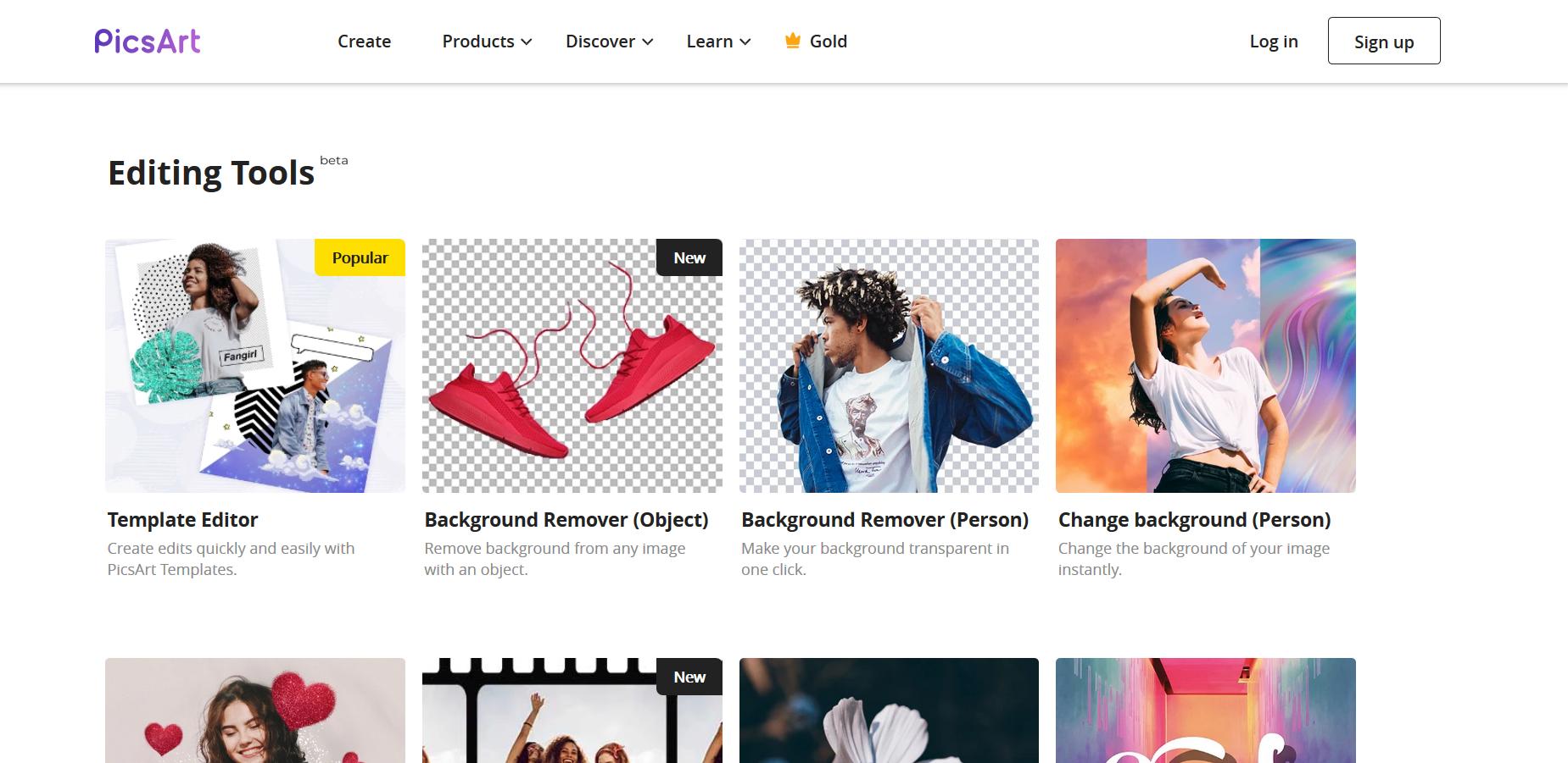 PicsArt free online photo editing tool