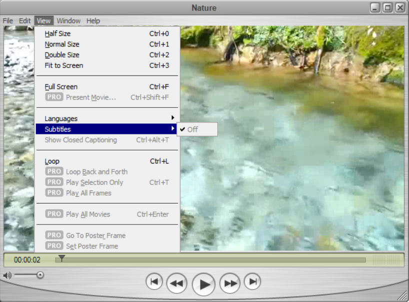 QuickTime Player plays MOV and other video formats