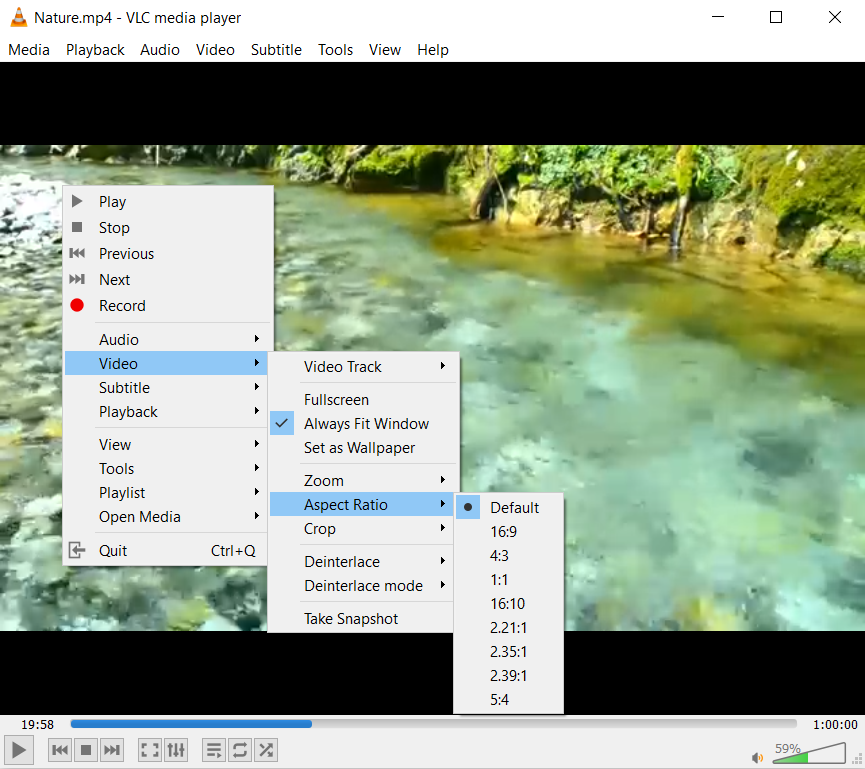 VLC media player for many video formats