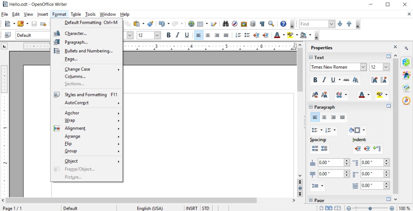 Best document file formats - ODT