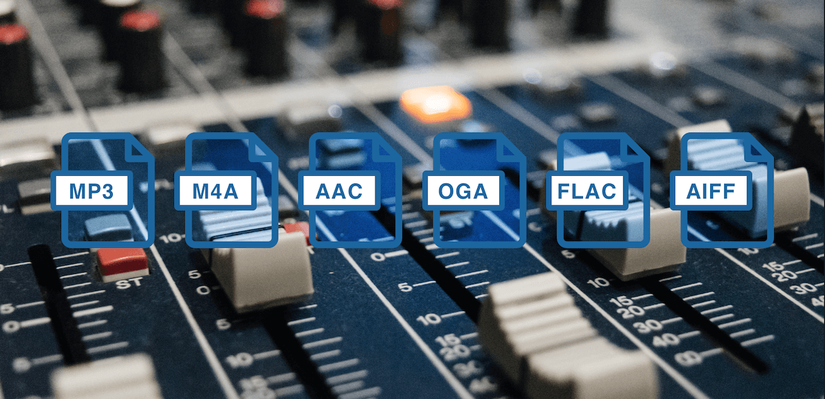 the best audio file formats example