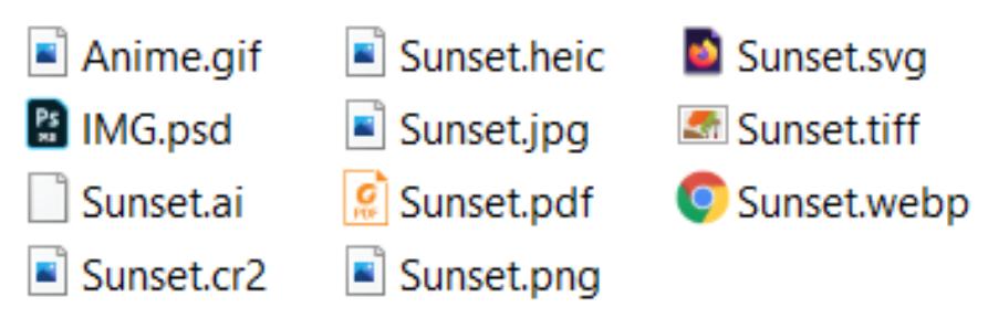 Best image file formats