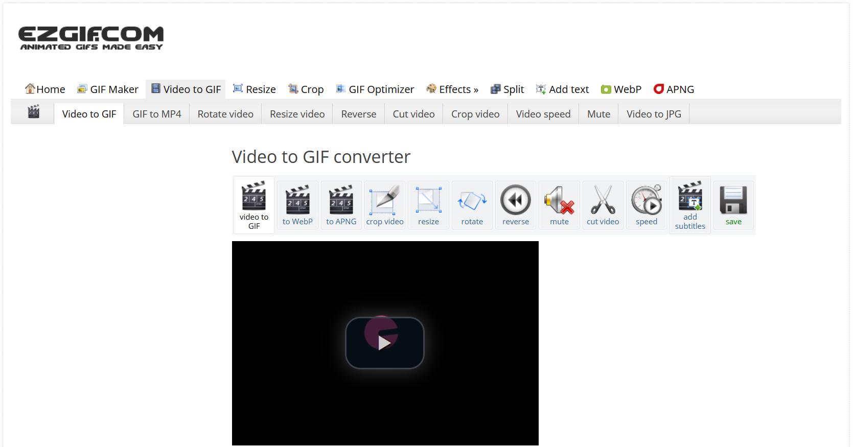 Make a GIF with EzGIF