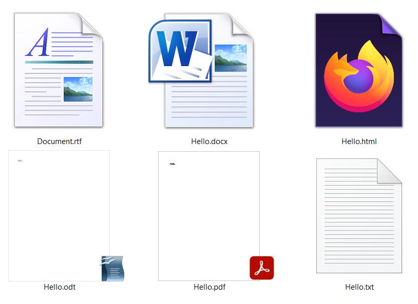 Best document file formats