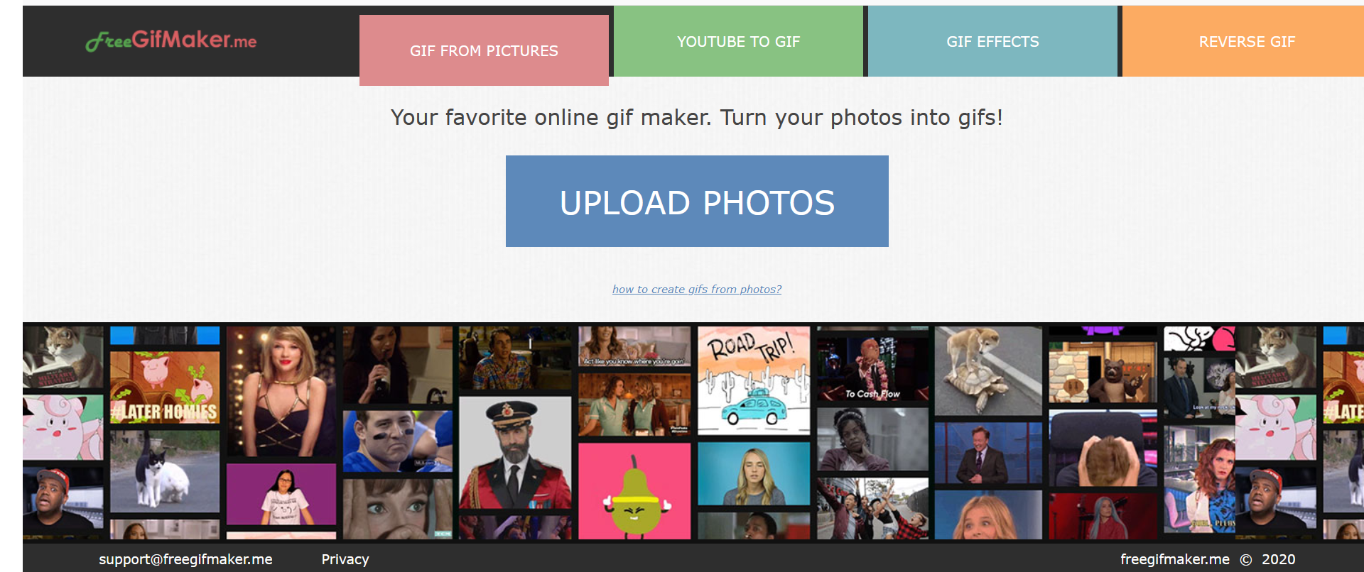 Make a GIF with FreeGIFMaker