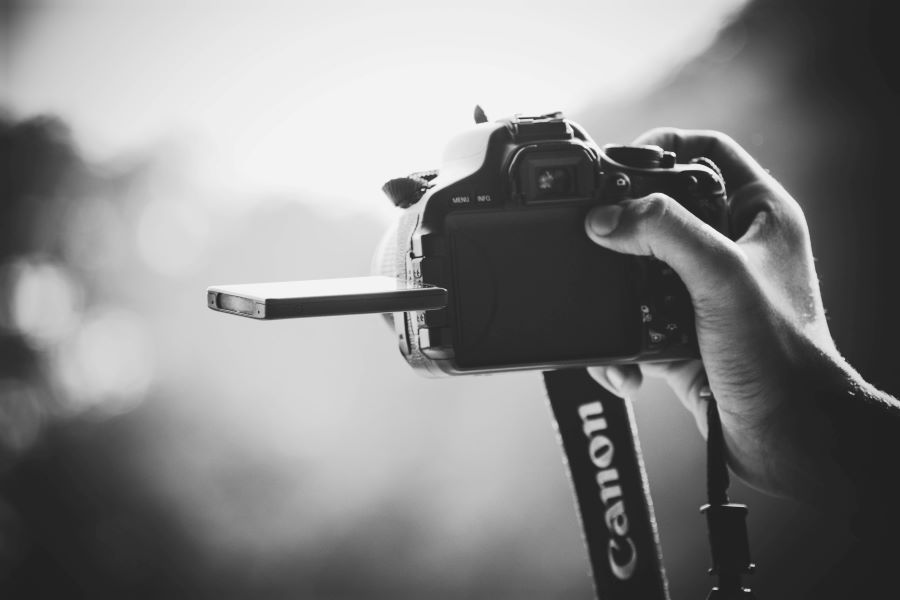 black and white photography camera