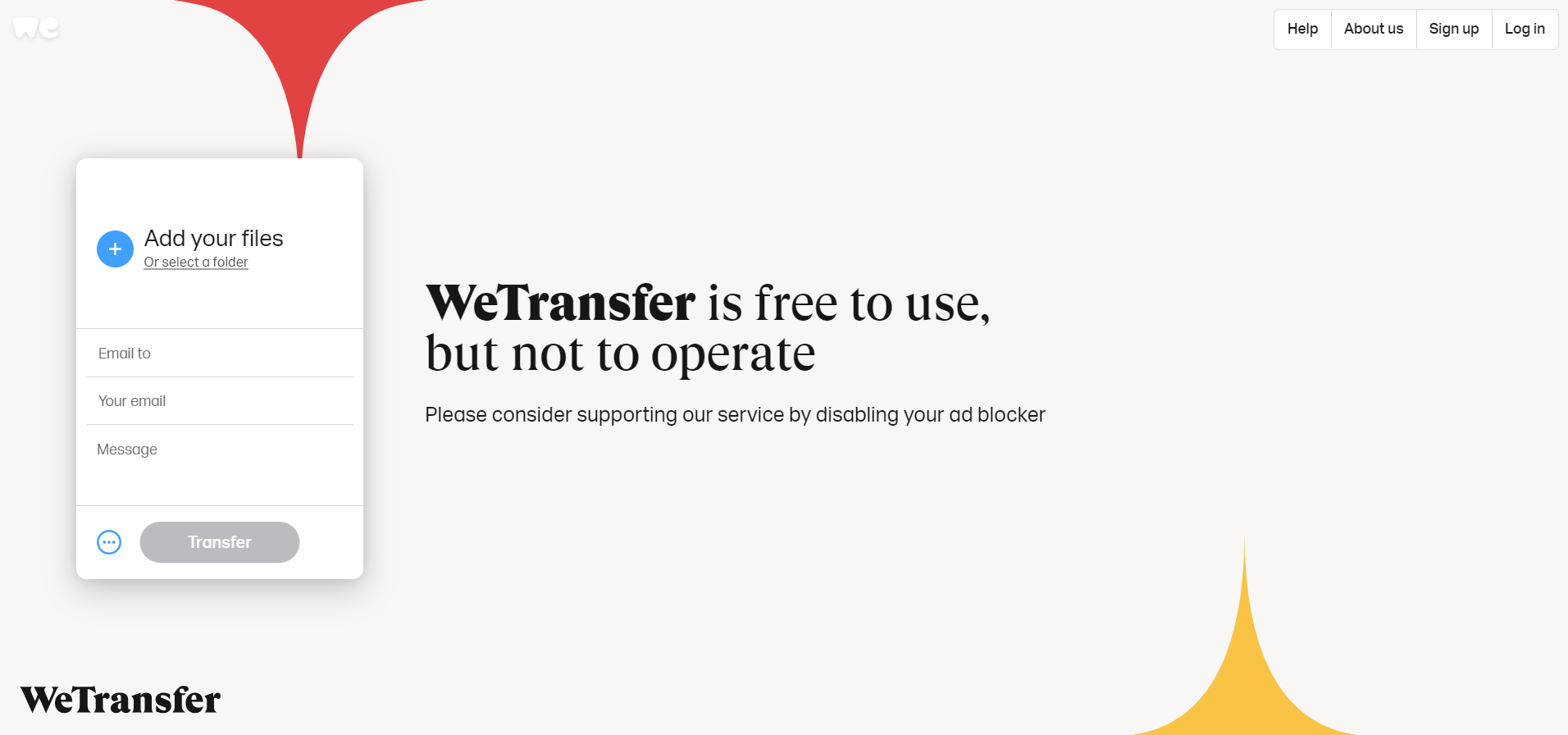 top 10 file-sharing services - wetransfer
