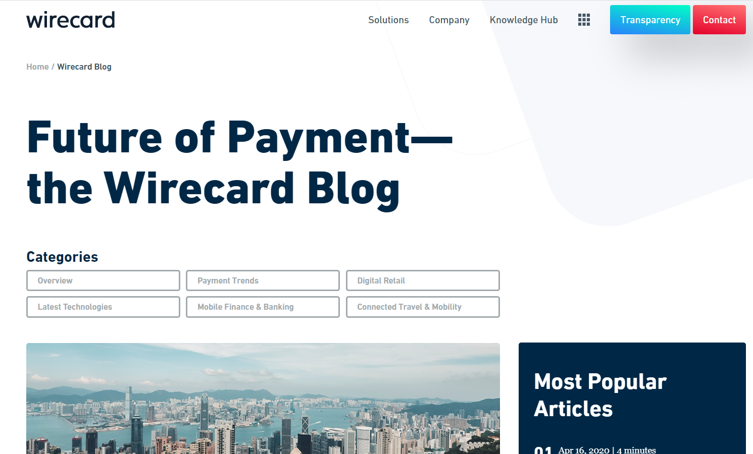 Top 10 unknown tech websites- wirecard