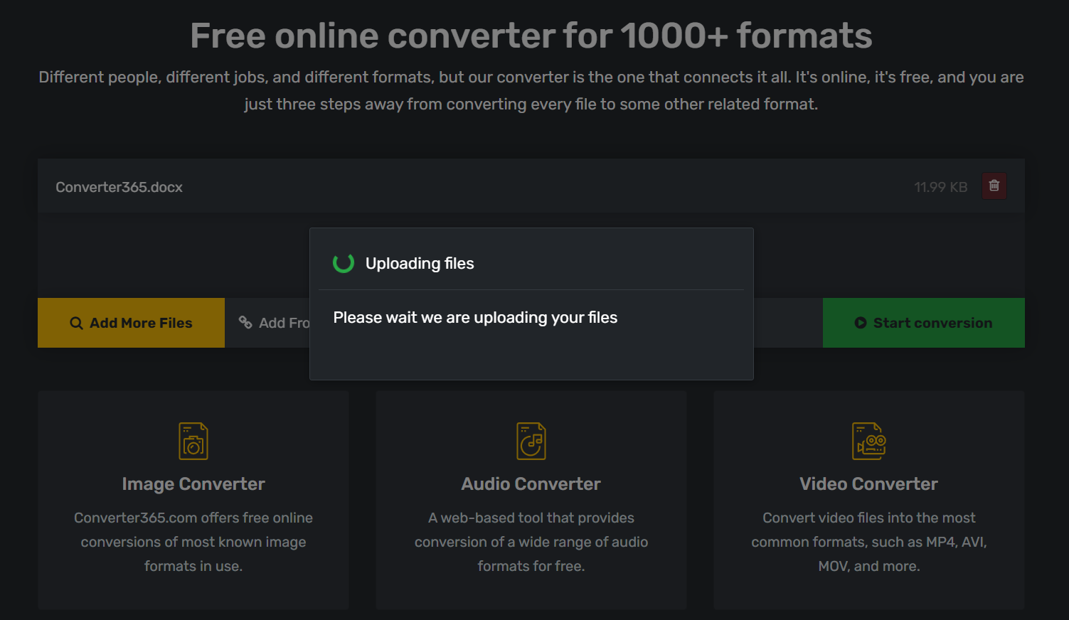 Is converting files online safe - step 1