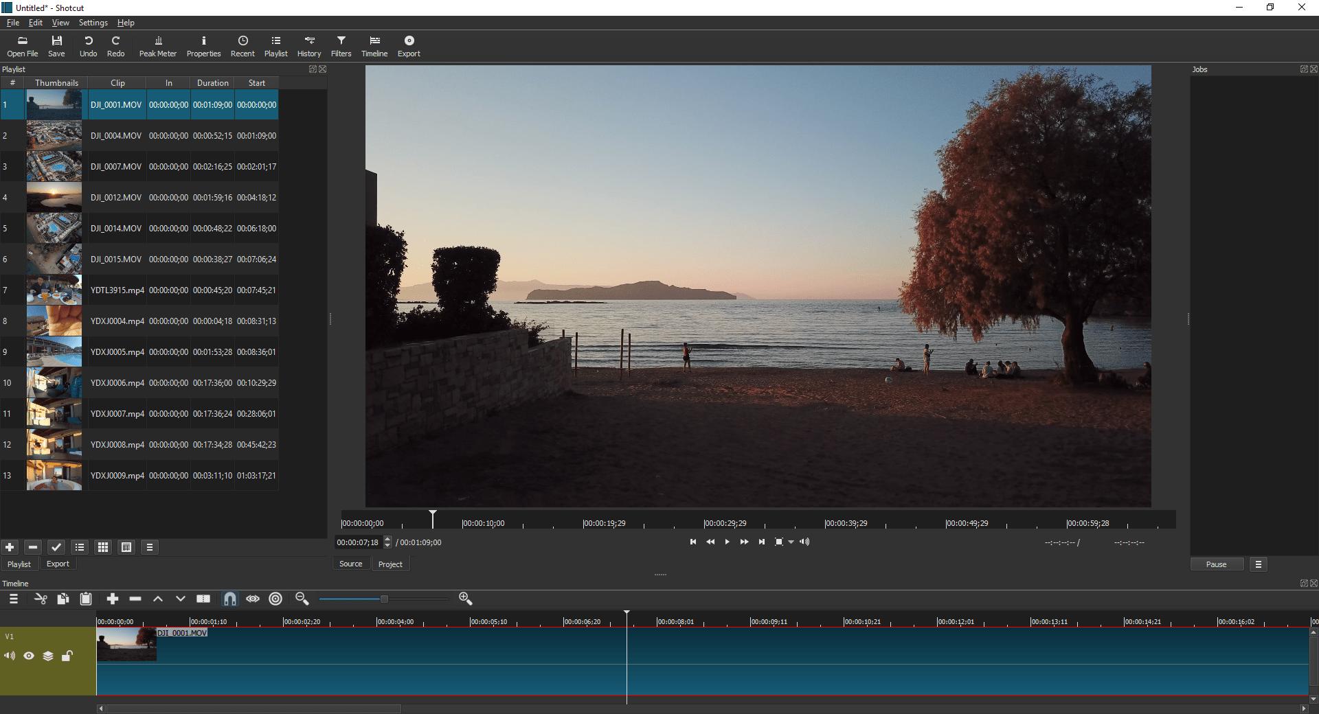 Windows Movie Maker file types - shotcut