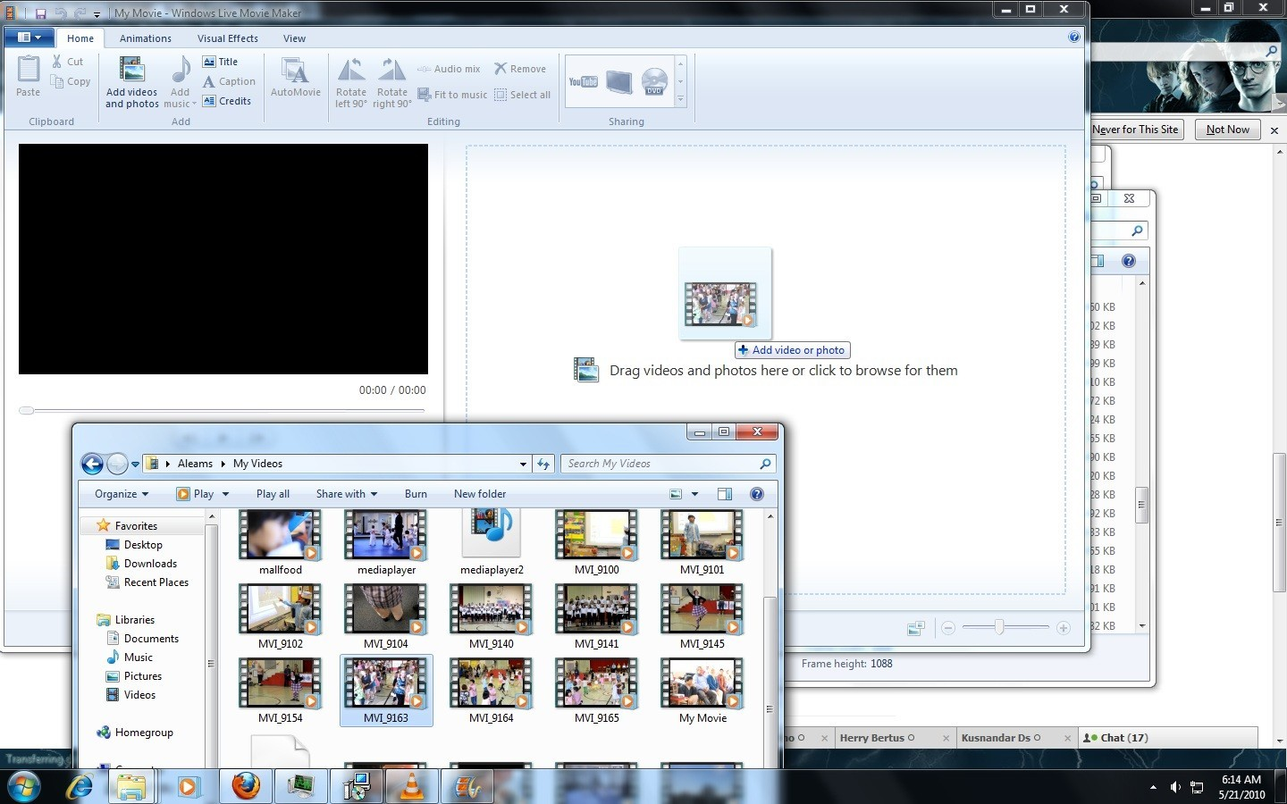windows movie maker file types - examples