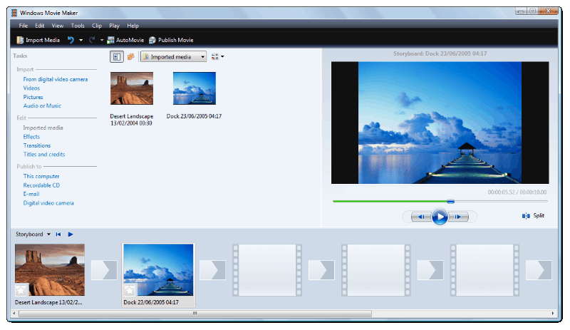Windows Movie Maker file types