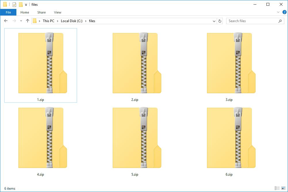 archive file format - zip