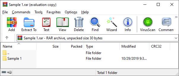 archive file format - rar