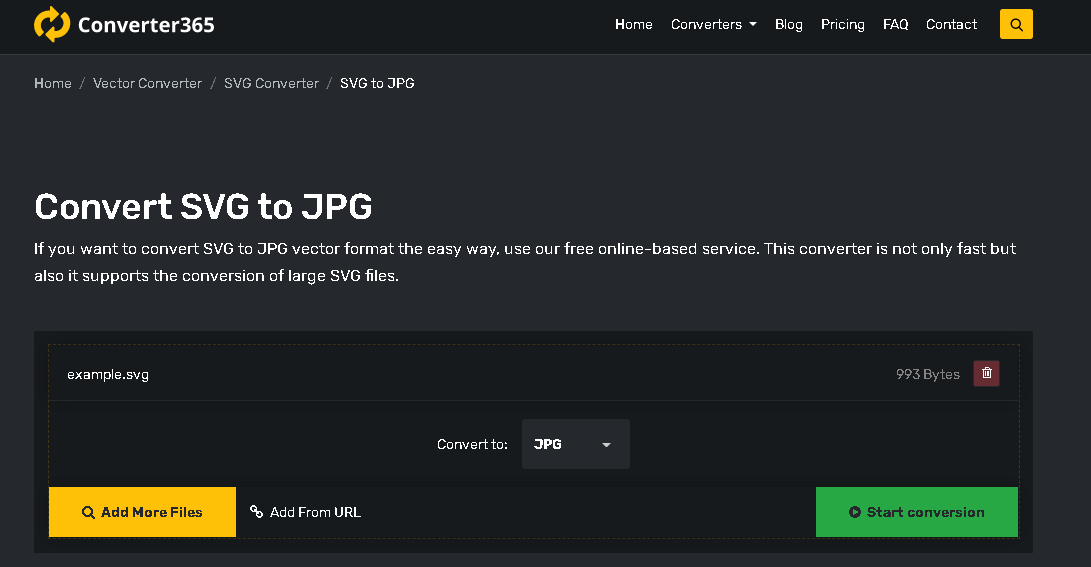 How to convert JPG to SVG step 1