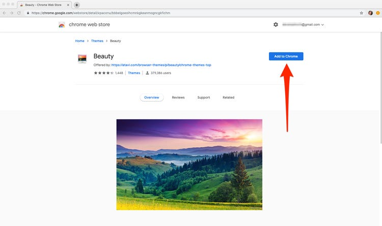 how to add google chrome themes
