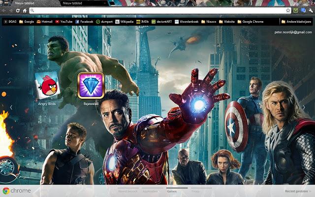 the avengers - google chrome themes