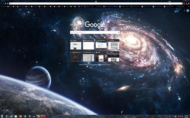 galaxy - google chrome themes