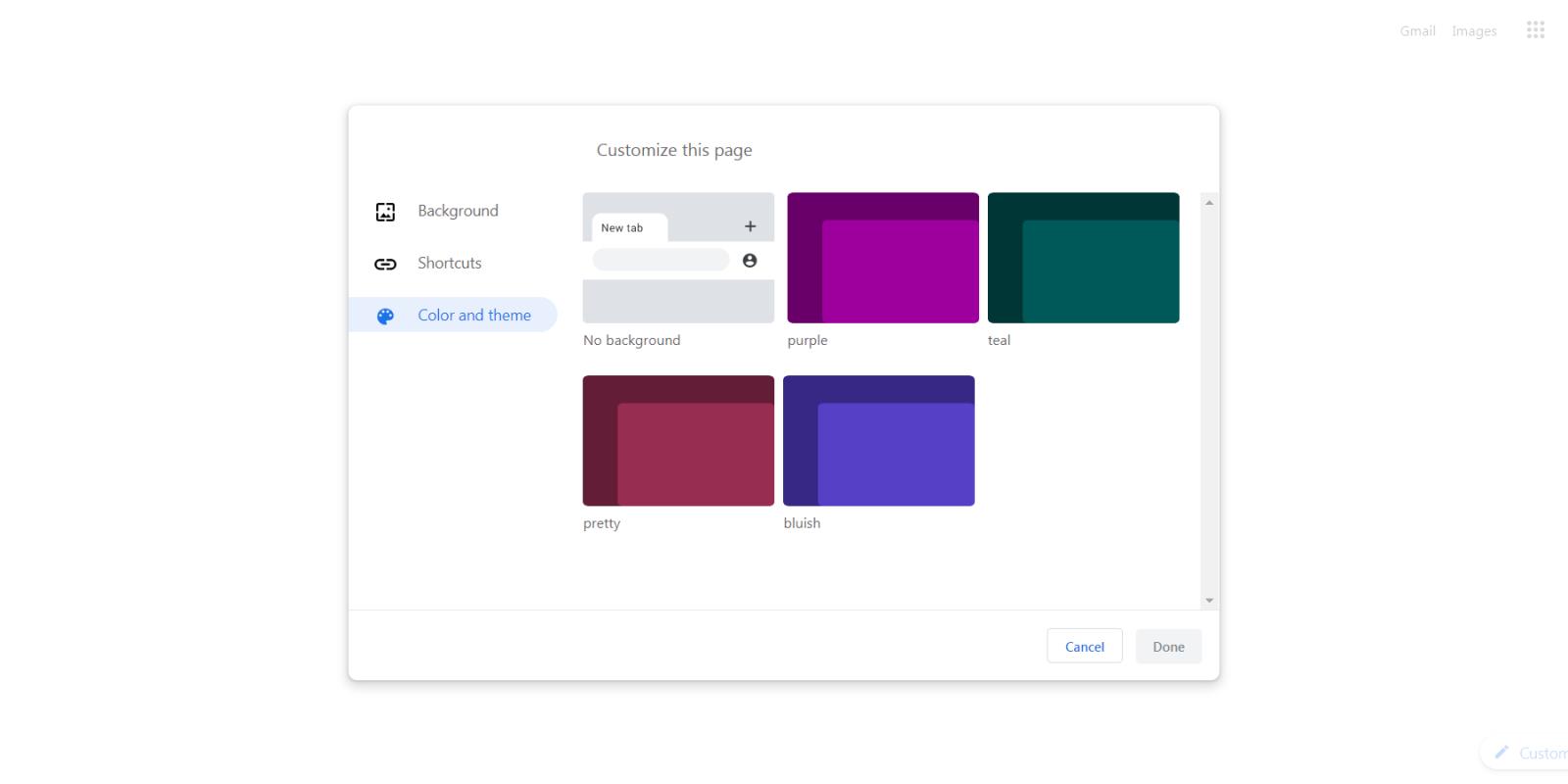 google chrome themes custom