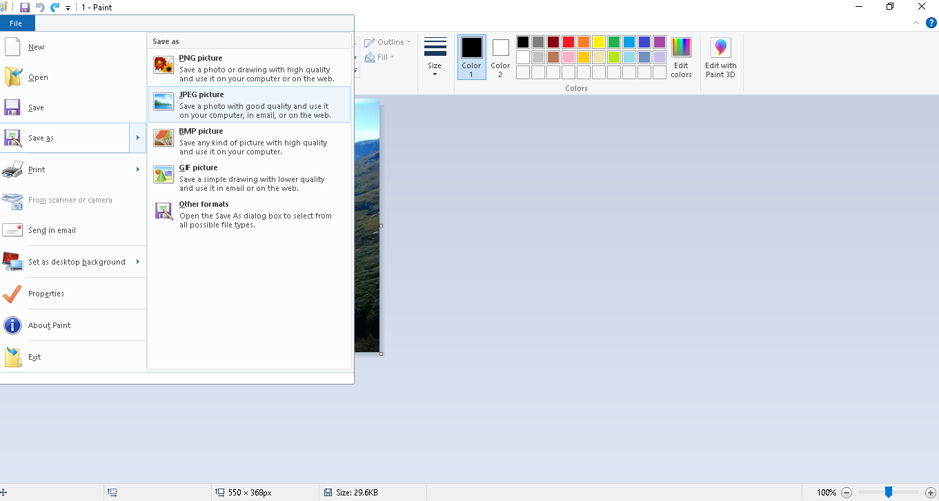 how to convert webp to jpg - paint 2