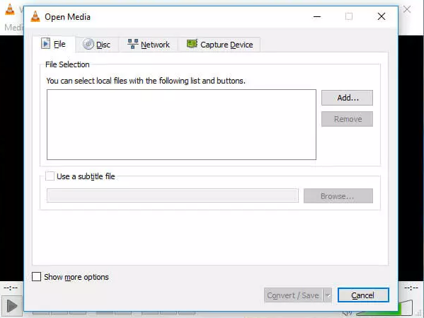 how to make video files smaller - VLC step 1 and 2