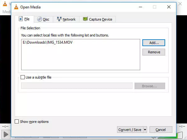 how to make video files smaller - VLC step 3 and 4