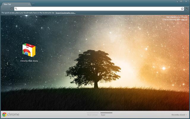 lone tree - google chrome themes