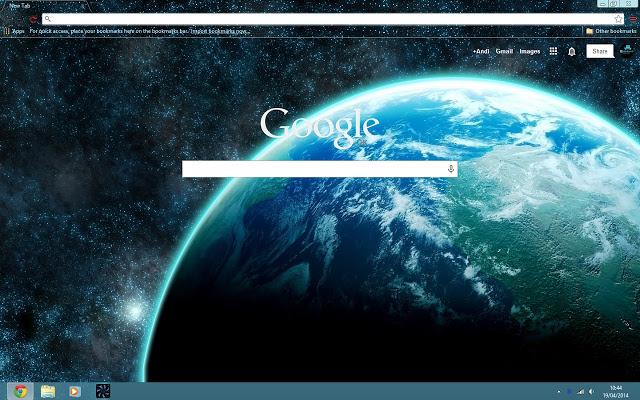 space - google chrome themes