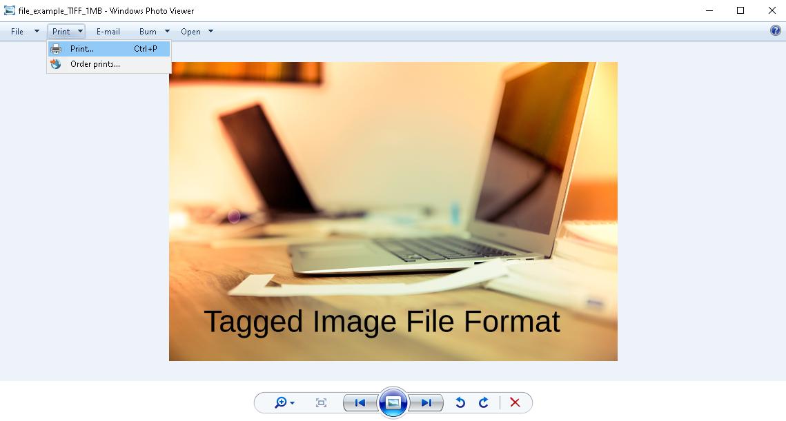how to convert tiff to pdf - windows step 2