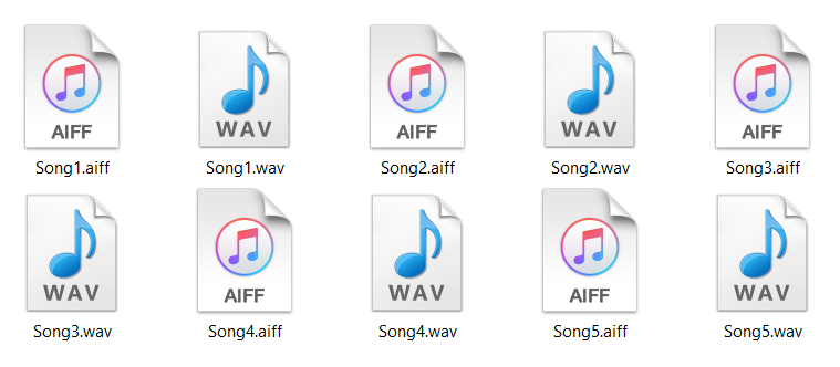 Converting audio files that are uncompressed