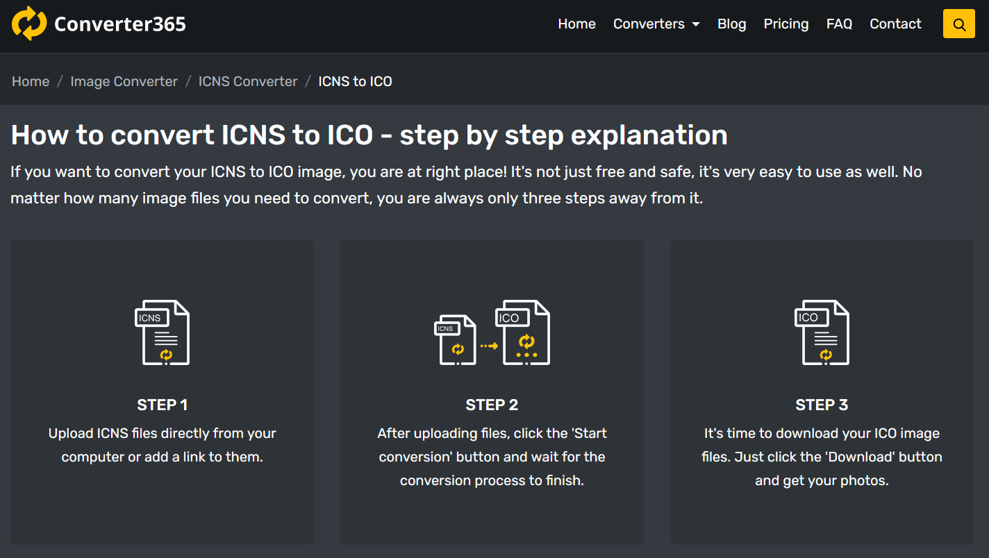 How to convert ICO to ICNS file online?