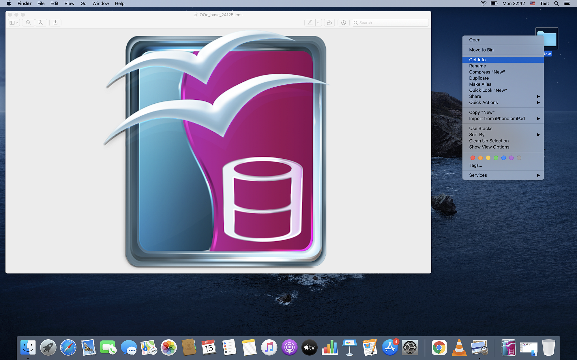 How to change an icon on Mac OS?