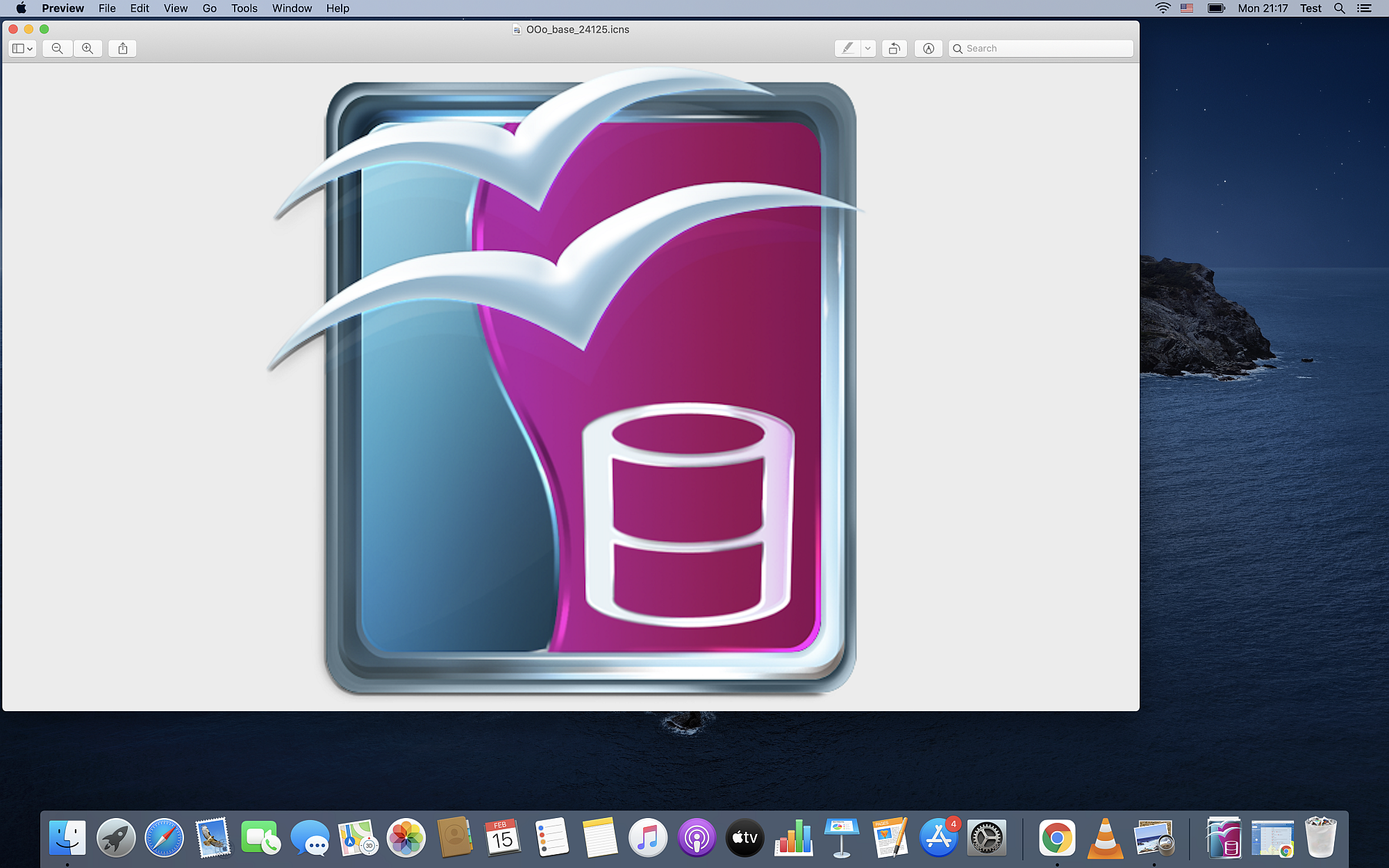 How to open an ICNS file on Mac OS with Apple Preview?