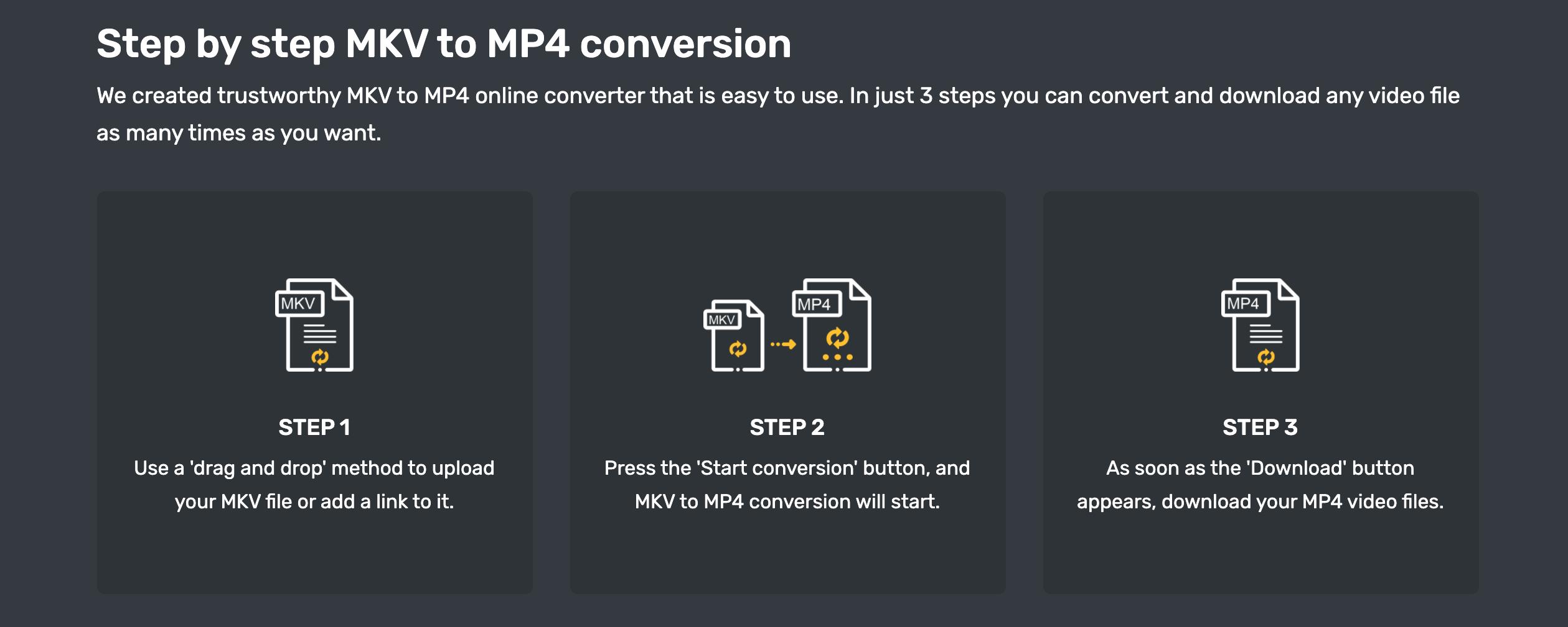 convert mkv to mp4 using converter365