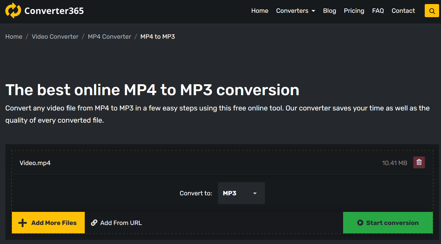 How to convert MP4 to MP3 online?