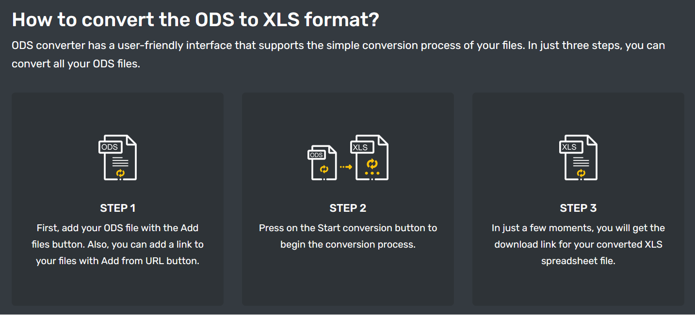 How to convert ODS to XLS online for free?