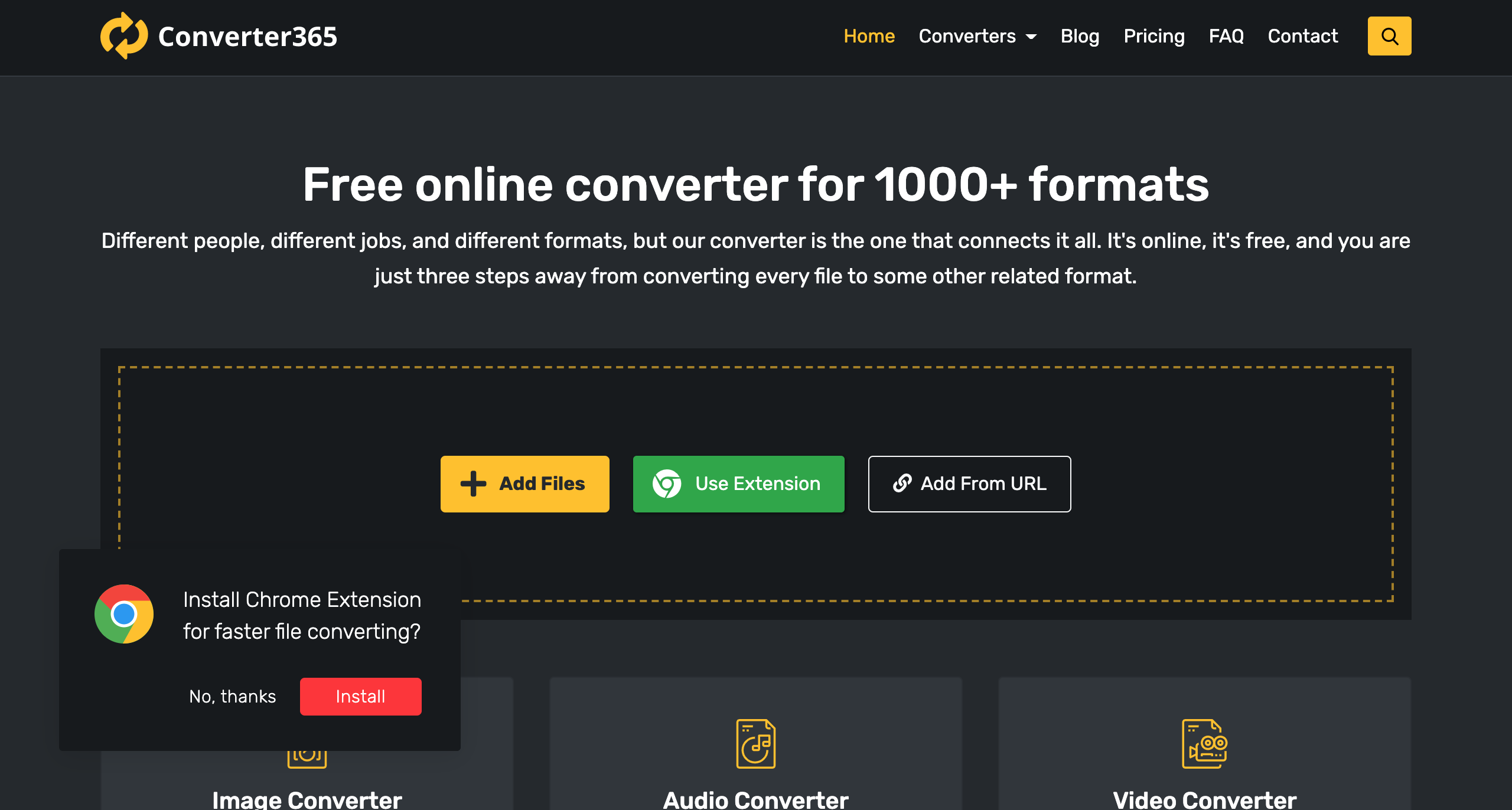 open every file format converter365