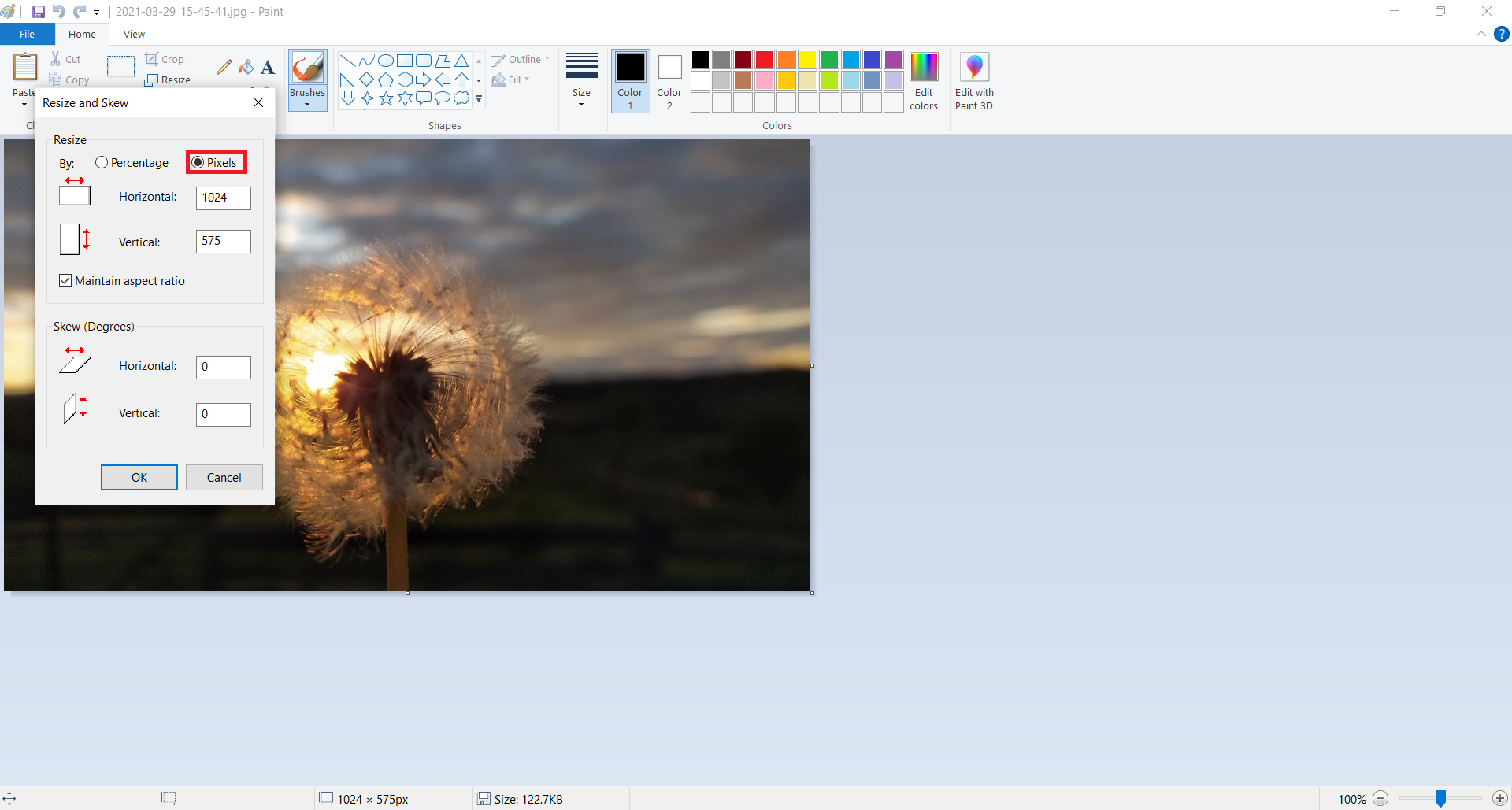 Convert low resolution image to high resolution on Windows