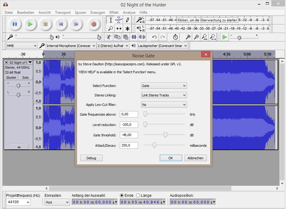 bad audio quality audacity