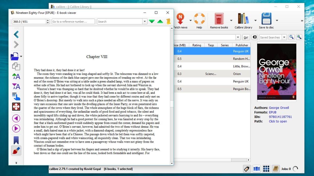 EPUB readers for Mac and Windows - Calibre
