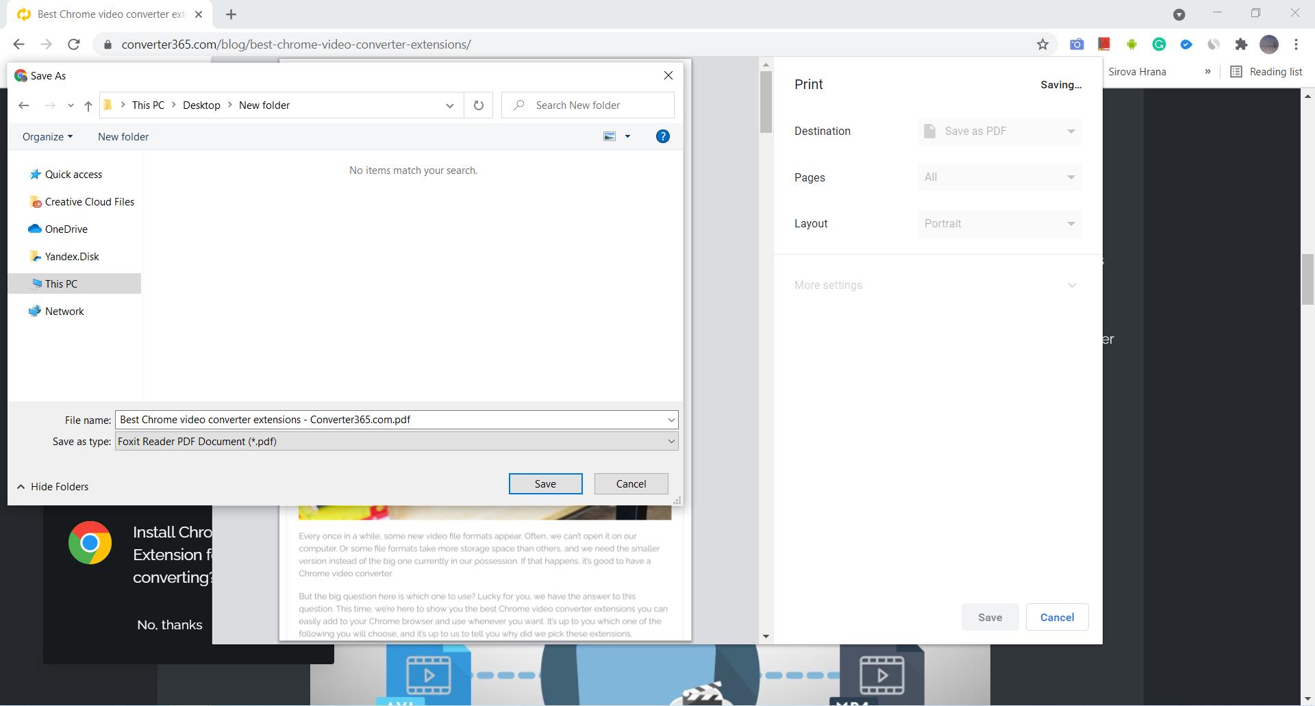 How to save a webpage as a PDF using Google Chrome?
