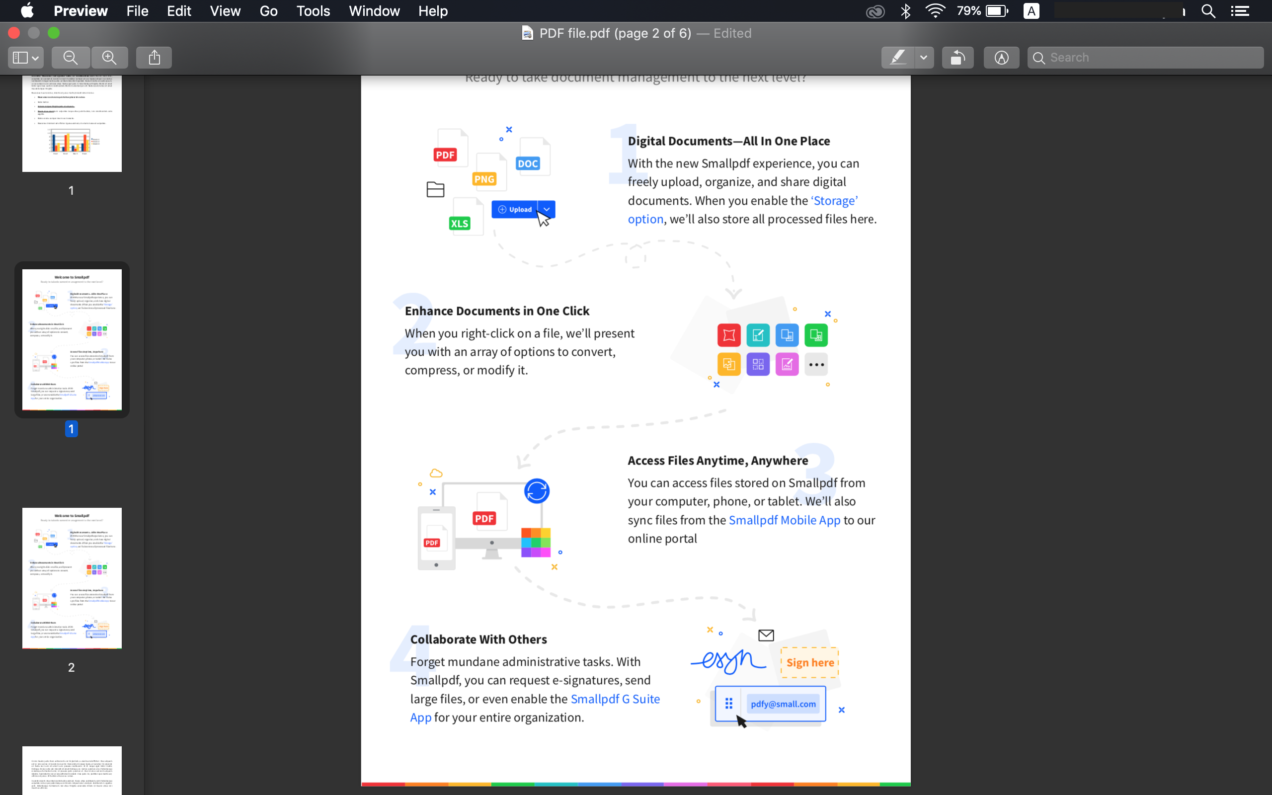 merge pdf files on mac step 3