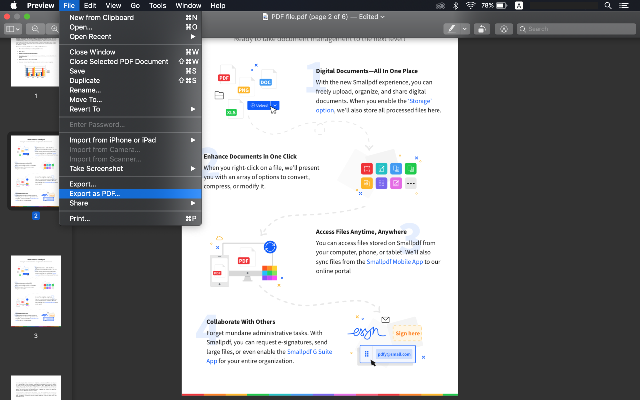 merge pdf files on mac step 4