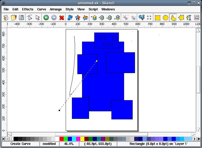 Skencil free vector tools