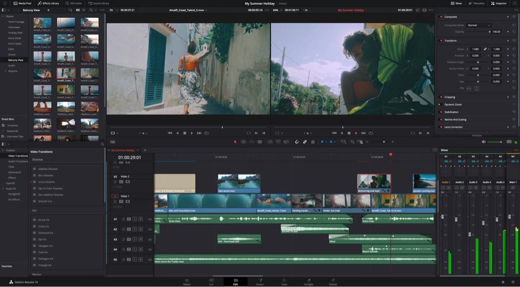 DaVinci resolve free online video tools