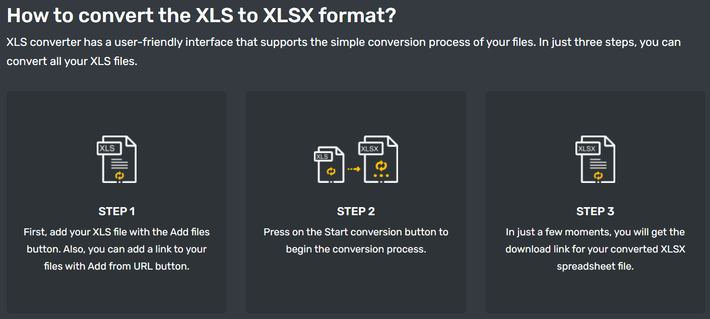 How to convert XLS to XLSX files free online on any operating system?