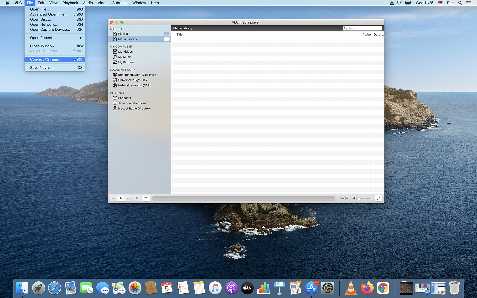 How to convert MP4 to MPG on Mac OS Catalina using VLC?