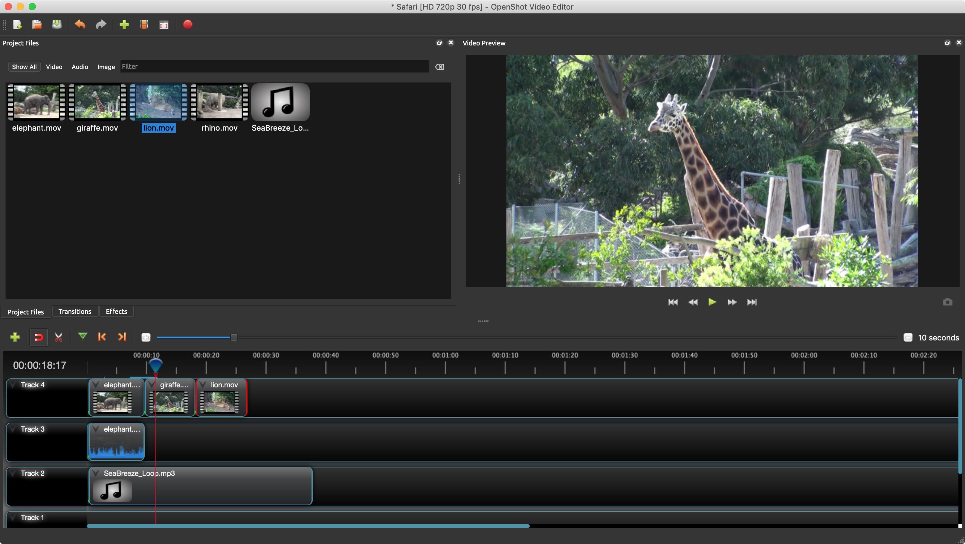 openshot free online video tools