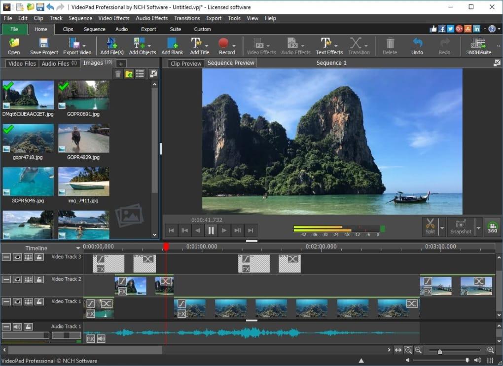 videopad free online video tools